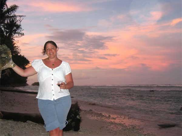 Sunset at Kosrae Village and Ecolodge